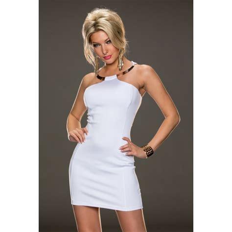 Mini Dress Batik Bodycon Hersya fashion sleeveless metal ring halter mini bodycon