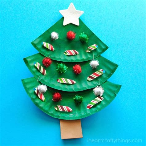 paper christmas treecraft paper plate tree craft i crafty things