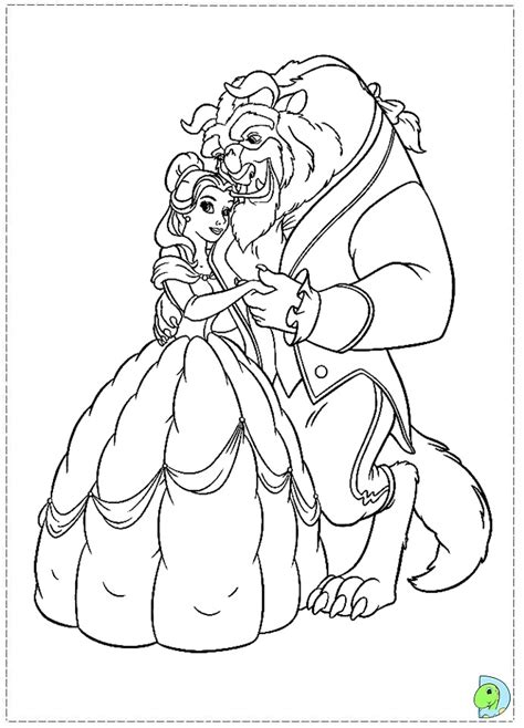 beauty and the beast coloring pages to print az coloring