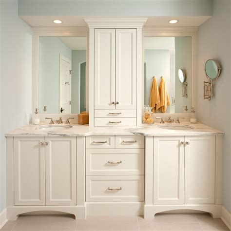 cabinet between sink bathroom traditional with bathroom