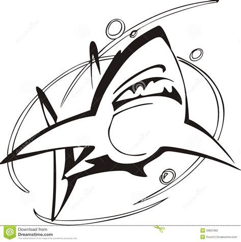 Shark symbol stock vector. Illustration of emblematic