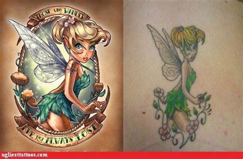 tattoo fail tinkerbell ugliest tattoos tinkerbell bad tattoos of horrible