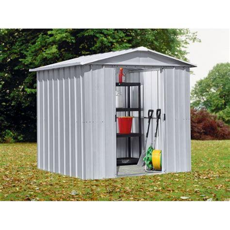 buy yardmaster apex metal garden shed   ft  argos