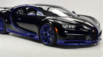 bugatti black and black and blue bugatti chiron lands in the u s