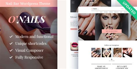 wordpress themes free nails o nails nail bar beauty salon wordpress theme