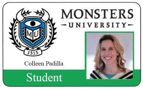 Monsters Student Card Template by More Students Id Cards Design Templates Sles Student