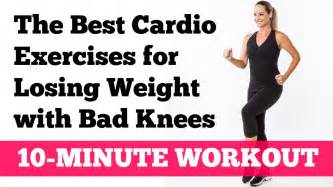 the best cardio exercises for losing weight with bad knees