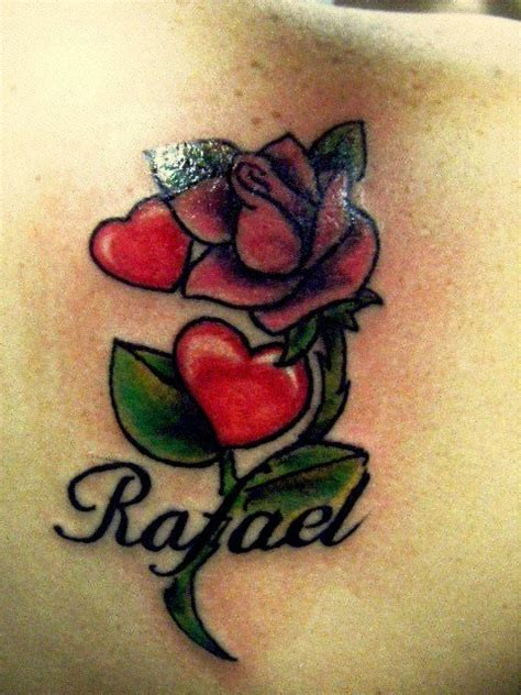 rose pink bud with hearts tattoo tattoos pinterest