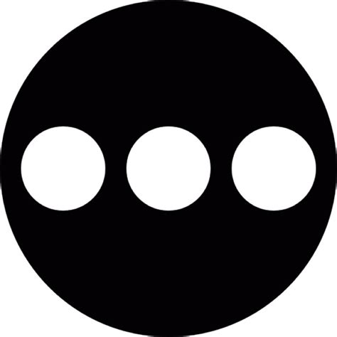 Three Buttons circular button with three dots inside icons free