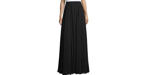 heritage pleated a line maxi skirt in black save