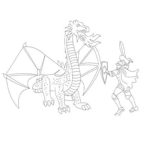 Coloriage Dragon Et Chevalier A Imprimer Gratuit