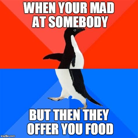 They Mad Meme - socially awesome awkward penguin meme imgflip
