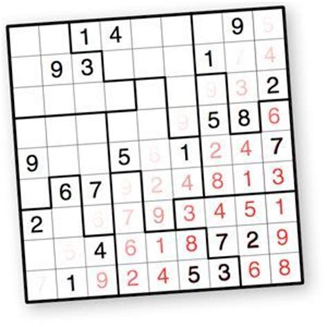 printable sudoku jigsaw puzzles sudoku puzzles and puzzles on pinterest