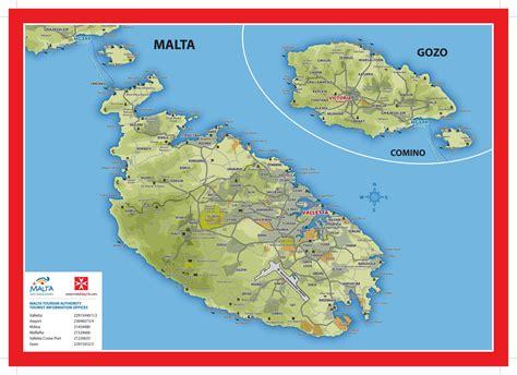 physical map of malta malta