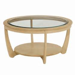 Round Glass Top Coffee Table Nathan Shades In Oak Glass Top Round Coffee Table