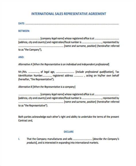 international sales agreement template 29 sle sales agreement form