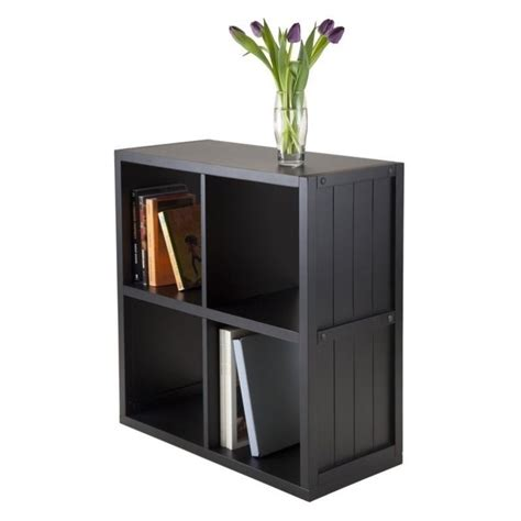 Wainscoting Shelf by 2x2 Shelf With Wainscoting Panel In Black 20025