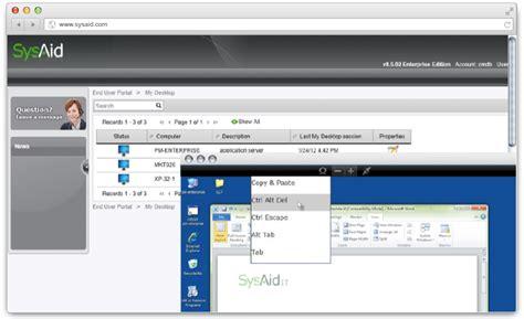 help desk remote software sysaid remote desktop employee remote access demo it now