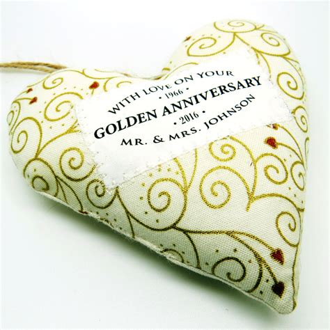 Golden Wedding Anniversary Gifts by Golden Wedding 50th Anniversary Gift Personalised Fabric