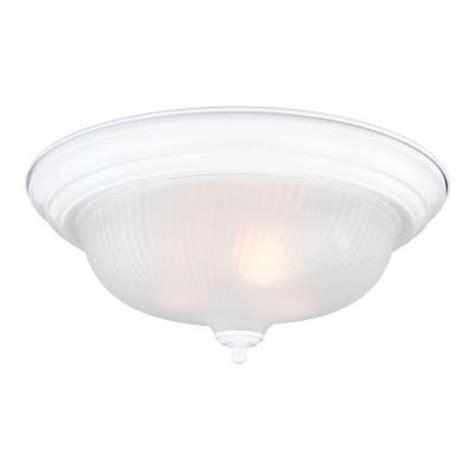 3 light white dome flush mount