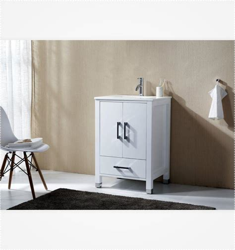 Country White 30 Inch High Anziano 30 Quot High Gloss White Bathroom Vanity W Quartz Top U2502 The Vanity Store Canada