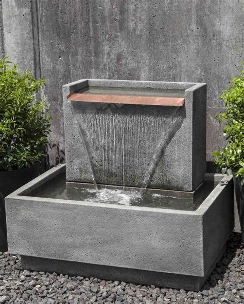 modern water fountain falling water ii garden fountain cast stone fountain