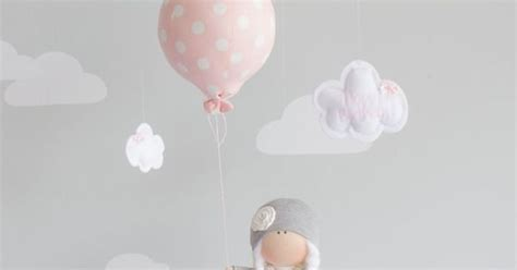 Elephant In The Room Exle by Balloon Nursery Decor Baby Mobile Pink And Grey Unique Gift I114 Baby Baby