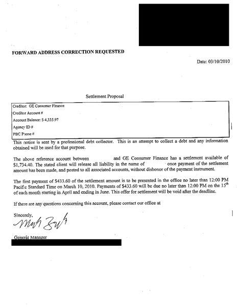 Request Letter Bank Loan Settlement Walmart Debt Settlement Letter