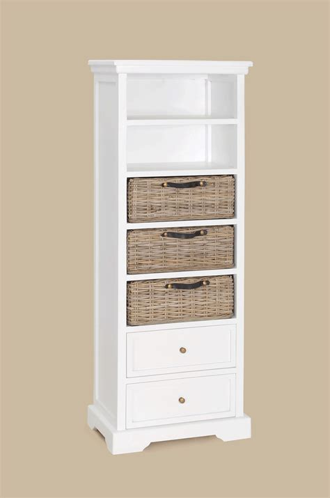 white bookcase with baskets bobsrugby