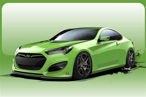 genesis coupe hp another 500 hp hyundai genesis coupe concept heads to sema