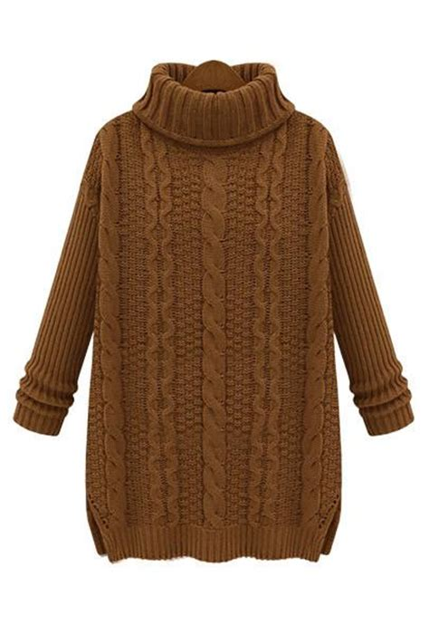 brown cable knit sweater camel brown turtleneck cable knit sweater as seen on