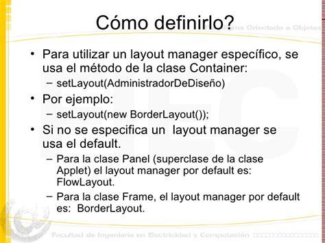 default layout manager java entorno grafico en java
