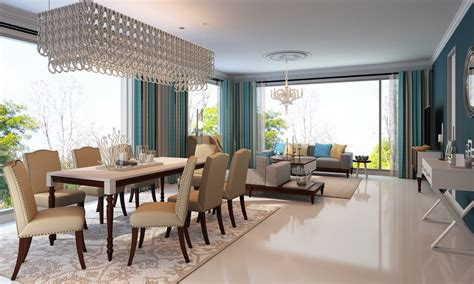 teal dining room ideas buy classic teal dining room in india livspace