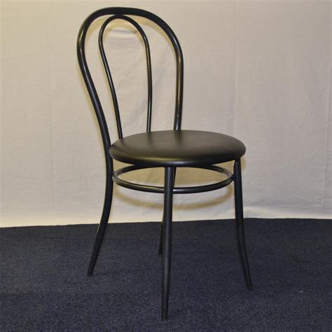 Metal Frame Dining Chairs Black Vinyl Metal Frame Dining Canteen Chair