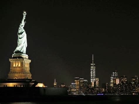 statue of liberty shines bright with new led lights