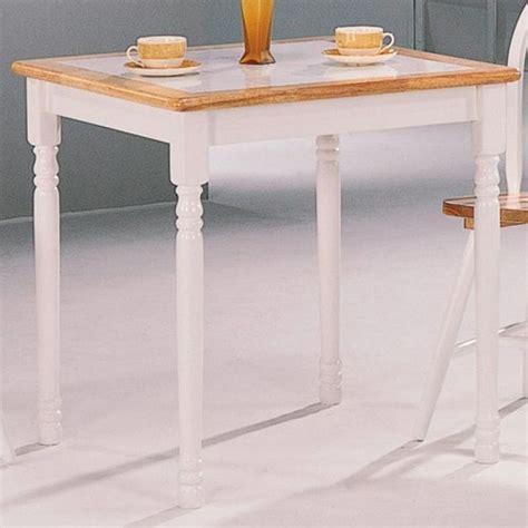 coaster damen white square tile top casual dining