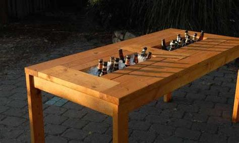 plans   patio table  built  beerwine coolers