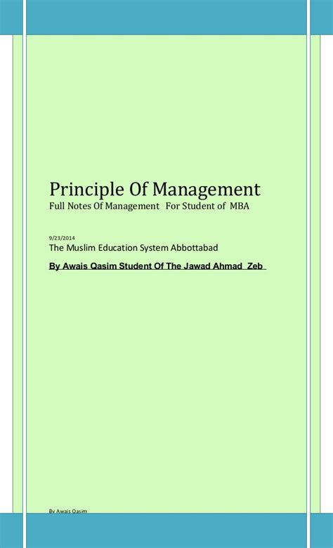 Strategic Financial Management Notes For Mba by 02 Management Notes For Mba