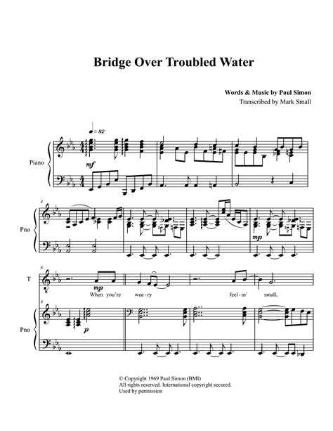 testo bridge troubled water score quot bridge troubled water quot berklee college of