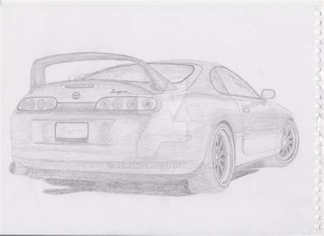 toyota supra drawing toyota supra drawing by remumisa on deviantart