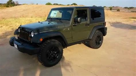 jeep wrangler army green tank army green 2015 jeep wrangler willy s edition tdy