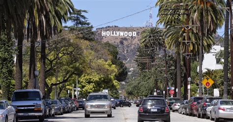 hollywood sign from street california bull los angeles vs san francisco weather