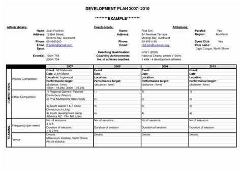 personal 5 year plan template personal development plan template word business