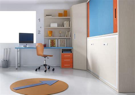 bureau escamotable murale cool lit pont rabattable avec armoire duangle et bureau