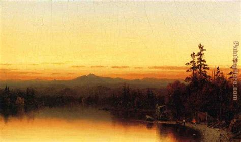 twilight painting sanford robinson gifford a twilight in the adirondacks
