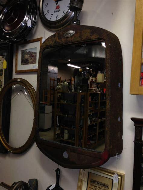 antique auto grille repurposed  mirror automotive