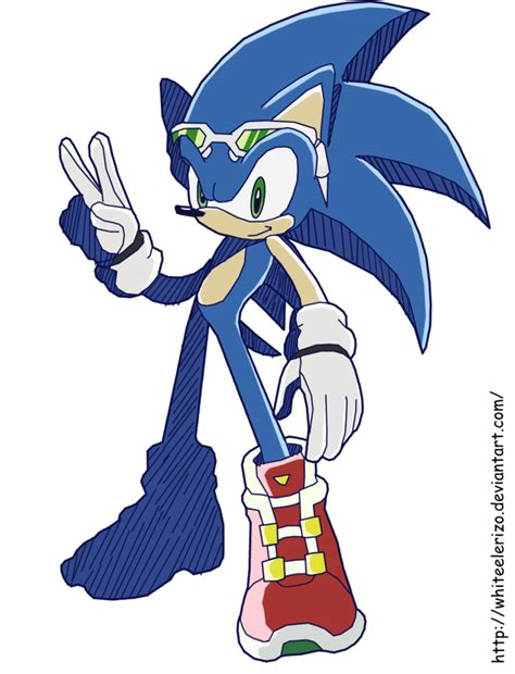 sonic painting free sonic rider by waito chan on deviantart