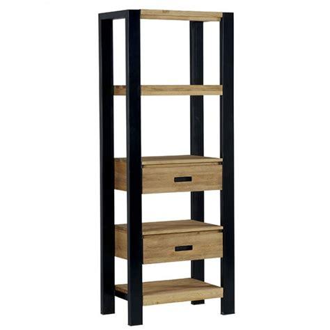 etagere 70 cm etag 232 re pin massif bross 233 2 tiroirs 70cm loundge