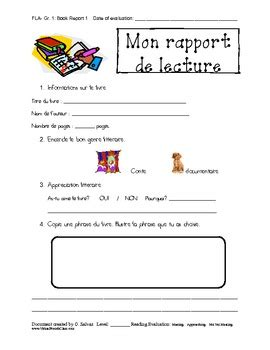 primary book report template book report template immersion primary by