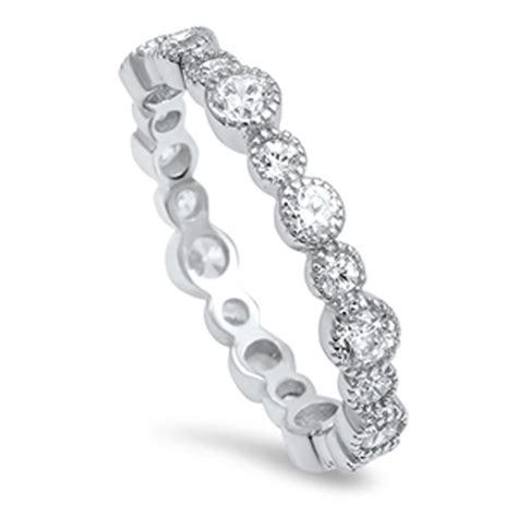 eternity ring new 925 sterling silver band